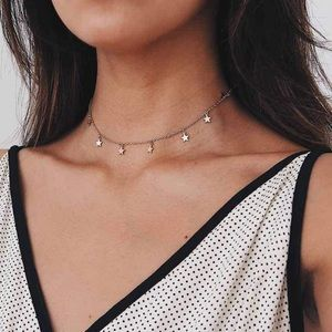 Dainty Gold Star Choker Necklace